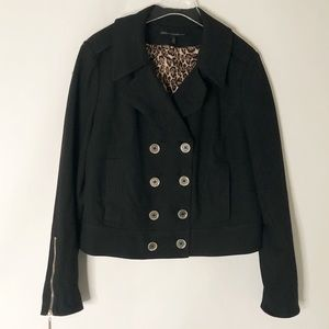 WHBM Cropped Double Breasted Peacoat